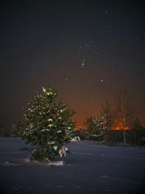 Зимнее созвездие Печора Коми Космос
