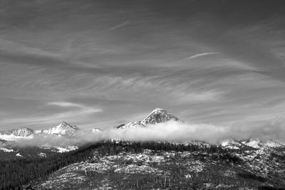 Облака и снег Yosemite National Park California USA Clouds Snow Mountains облака снег горы