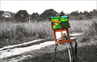 Я нарисую цветной мир... Этюдник Краски Рисунки Тупой и Серый Пейзаж