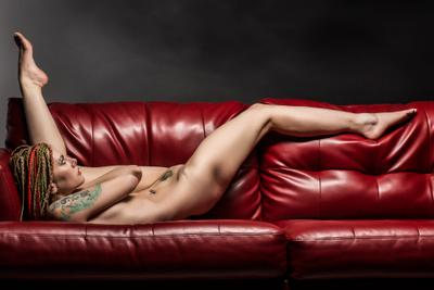Kseniia Red Couch