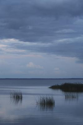 Дзэн озеро тишина ночь