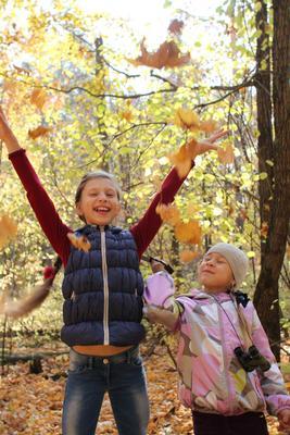 Золотой дождь Осень дети