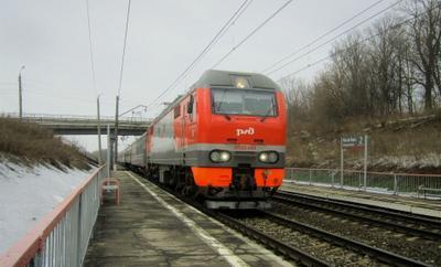 ЭП2К - 404 ЭП2К электровоз весна железная дорога
