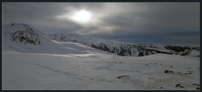 Ожидается незначительная облачность зима горы лыжи каракол иссык-куль