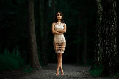 Сandle In The Darkness girl dress forest alexandr chuprina девушка платье лес александр чуприна