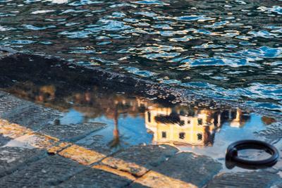 Отражение море отражение вода