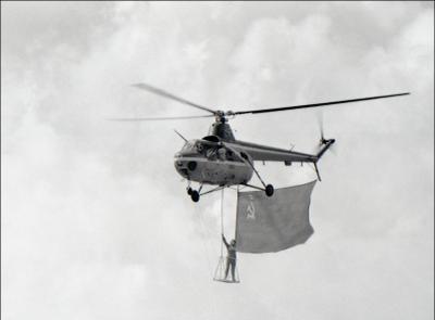 Ми-1 Ми-1 авиация вертолет полет Домодедово 1967