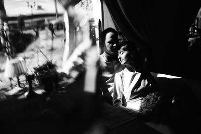 *** свадьба невеста жених черно-белое