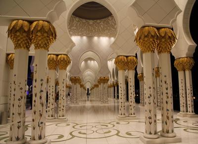 симметрия дворца Wahat Al Karama Oasis of Dignity ОАЭ город Абу-Даби