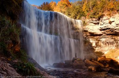 Webster's Falls парк, заповедник, река, водопад,  Онтарио, Канада, Ontario,  Canada,  lateonomen