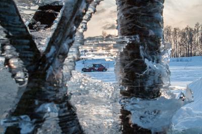 Ледовое вдохновление ралли sti club автогонки