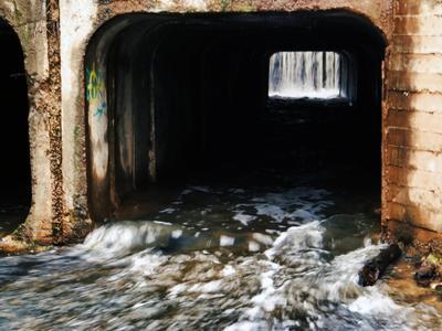 Поток Разлив вода фактура мост
