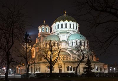 Собор Александра Невского в Софии София ночь