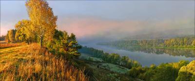 Первое холодное утро осени. осень утро холод река туман вода