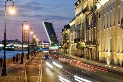 Ночной город. ночь мост набережная дорога
