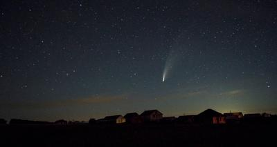 *** Ночь комета neowice