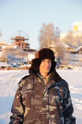 Дед в суровом северном городе Сургут