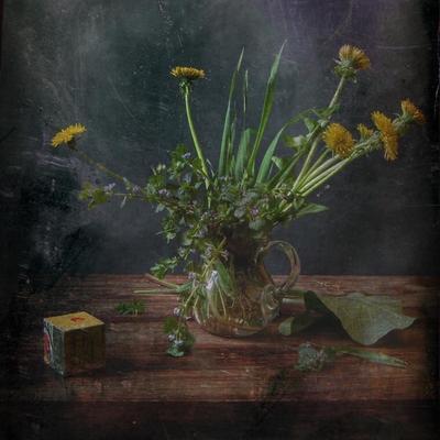 С кубиком Кубик цветы одуванчик