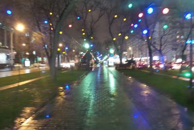 Краснодарская зима. фонарь Краснодар улица город ночь Красная дождь слякоть