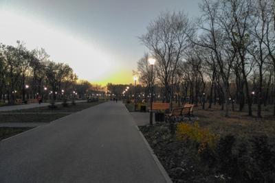 ***Магнитогорск, вечер, парк