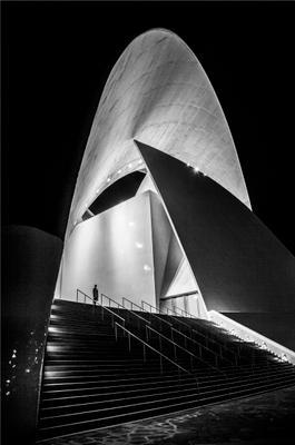 Ночь Театр Девушка Тенерифе Санта-Круз ночь оперный театр