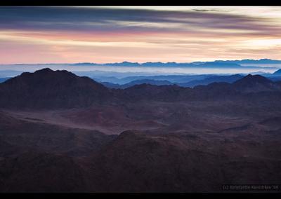 Рассвет на горе Моисея Египет горы Синай Моисей бедуин рассвет Egypt