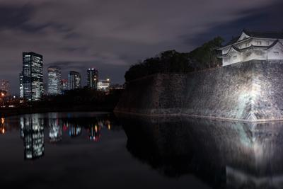 Замок в Осаке Осака Япония замок крепость