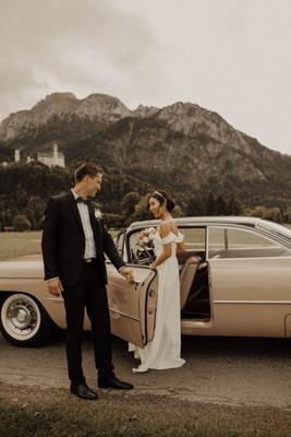 Свадебная фотосессия в горах Германии свадьба фотосессия невеста свадебная горы германия фотограф ретро