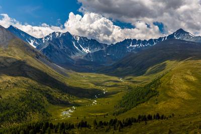 Долина реки Бартулдак  с пиками  Сулу-Айры Сулу-Айры Бартулдак
