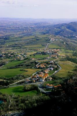 San Marino SanMarino город сверху