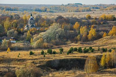 *** природа пейзаж осень татарстан каймары храм церковь