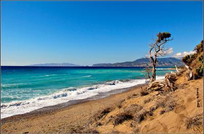 Эгейское море Прибой Эгейское море Греция Родос