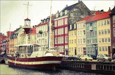 Old port copenhagen old port boat
