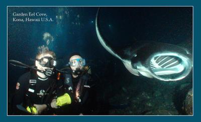 Погружение в Космос Kona, Big Island, Hawaii, scuba diving, night dive, mantas