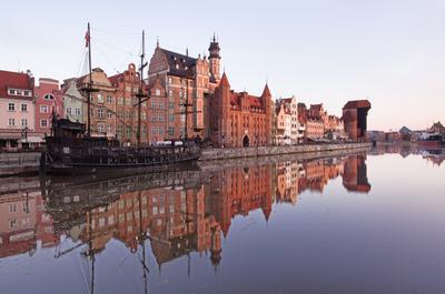 Набережная реки Мотлавы Польша