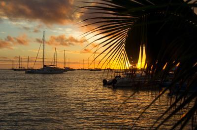 закат на Карибском море закат Карибы Доминикана карибское море