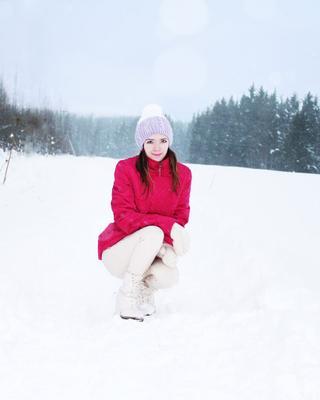 ***Зимушка зима стиль верхняя одежда лес поле снег снежно погода природа белый досуг отдых