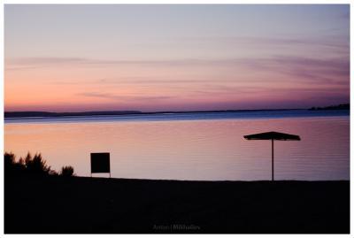 PostCard #5 Закат Пляж Розовый