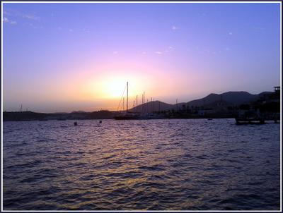 На закате. Эгейское море. Закат Море Релакс