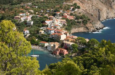 Asos Asos Assos Ionian sea Kefalonia island Greece