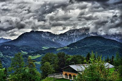 Берхесгаден пейзаж горы германия бавария