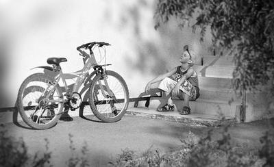 Привал велосипед дети мальчик b w