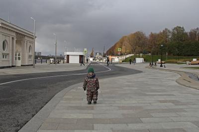 Осень у Речного вокзала Россия Москва Город Парк Осень Речной вокзал