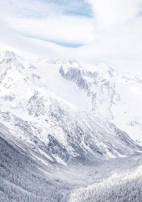 """Поляна """"Домбай"""" природа горы пейзаж горнолыжный курорт снег"""