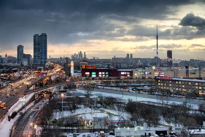 Москва вид на ВДНХ ММосква
