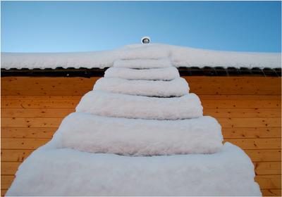 Лестница в небо... лестница снег крыша