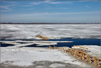 Предчувствие ледохода. Архангельск весна Двина