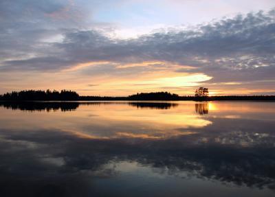отражение пейзаж природа