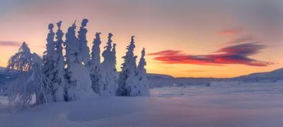 В снегах обетованных Пейзаж природа Урал зима горы снег рассвет Сергей Макурин Бродяга с севера Новый год