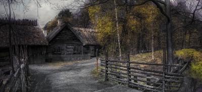 ***Фрагмент улочки в деревне.Музей Скансен.Швеция.Стокгольм.